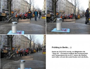 Outdoorpicking am 18.03.2012 @ Kastanienallee 85 / 10435 Berlin